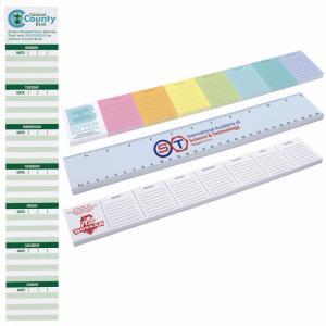 """12"""" x 2"""" Bic Memo Tab Adhesive Notepad, 25 Sheets"""