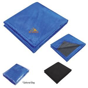 Reversible Ribbed Flannel Flannel Blanket