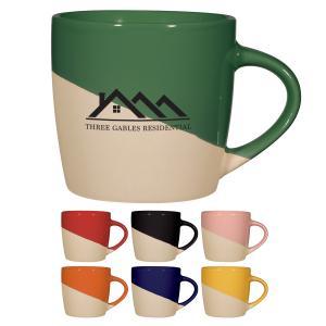 12 oz. Two-Tone Stoneware Ceramic Mug