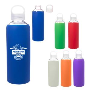 18 oz. Glass bottle with Silicone Sleeve
