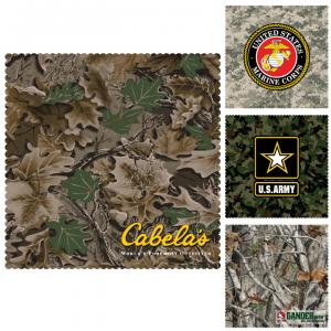"6"" x 6"" Camouflage Microfiber Cleaning Cloths"