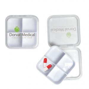 Removable 4 Compartment Pill Box