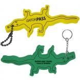 Foam Floating Alligator Key Tag