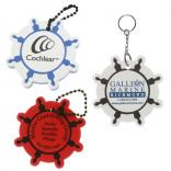 Foam Floating Ships Wheel Key Tag