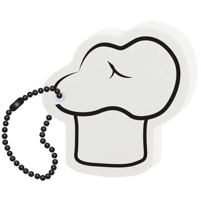 Floating Foam Chef Hat Key Tag