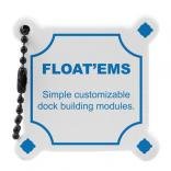 Floating Foam Dock Shaped Key Tag