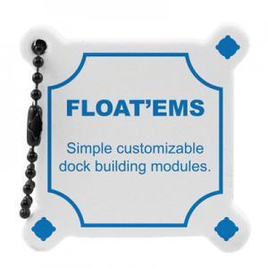 Floating Foam Dock Shaped Key Tag