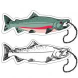 Floating Foam Salmon Key Tag