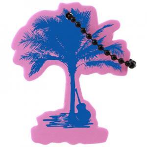 Floating Full Palm Tree Key Tag