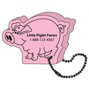 Floating Pig Key Tag