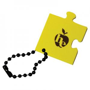 Floating Single Puzzle Piece Key Tag