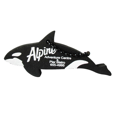 Floating Whale Key Tag
