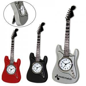 Strumming Away Guitar Clock