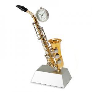 Saxophone shaped clock