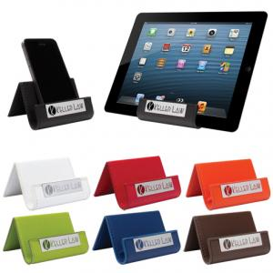 Leatherette Cell Phone And Tablet Stand