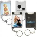 Mini Flashlight Snap-in Picture Key Tag
