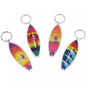 Tropical Surfboard Keychain