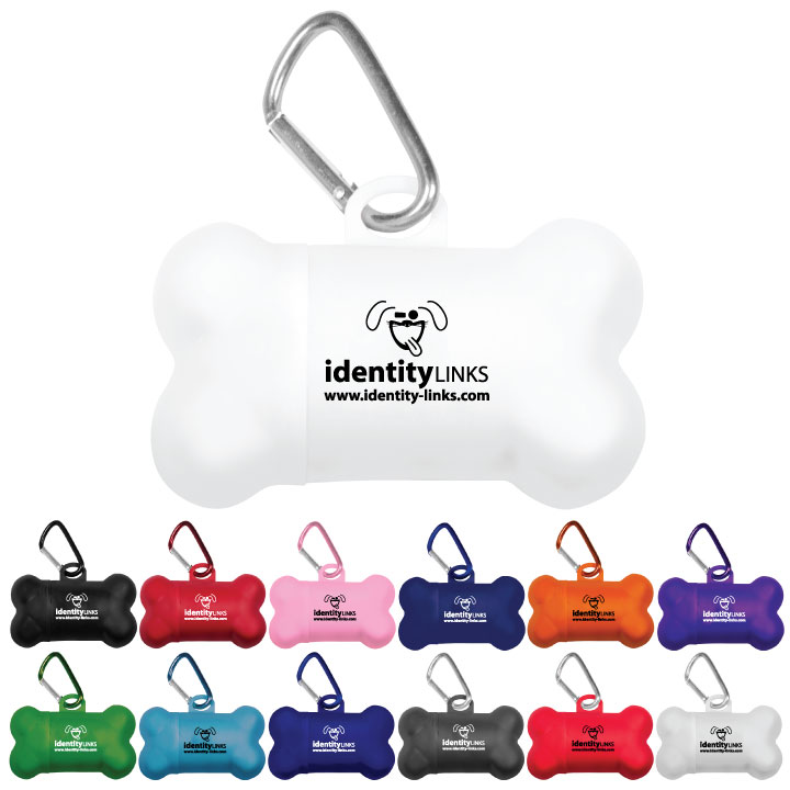 Identity Colorific Bone Shaped Dog Bag Dispensers