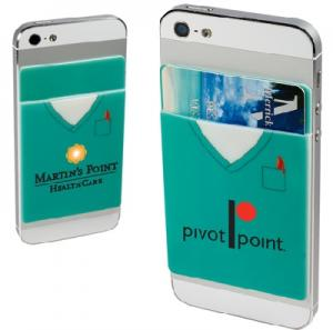 Silicone Scrub Theme Cell Phone Wallet