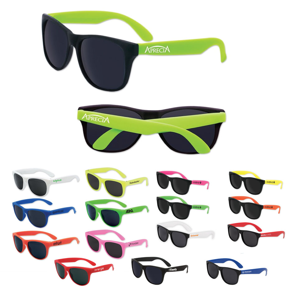 Kids Neon Logo Sunglasses