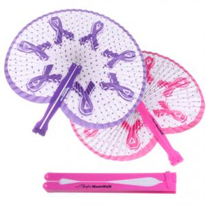 Awareness Pink Ribbon Folding Fan