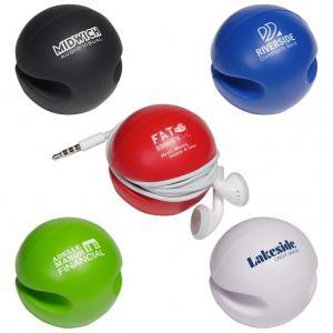 Stress Ball Ear Bud Holder