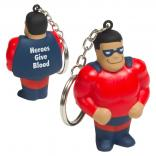 Super Hero Key Chain Stress Reliever