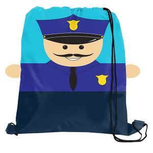 Police Officer Sports Drawstring Bag Backpack