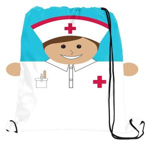 Nurse Sports Drawstring Bag