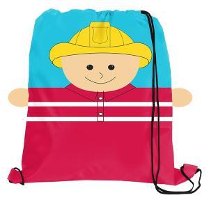 Fireman Sports Drawstring backpack bag