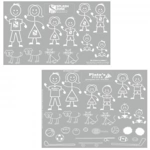 Car Peel & Stick Family Stick Figure Decal Sheet