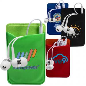 Earbuds & Cellphone Wallet Pocket