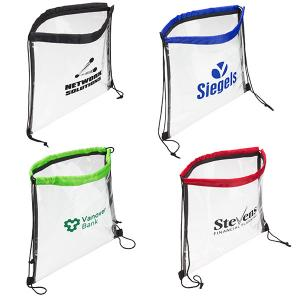 Stadium Approved Clear Drawstring Bag