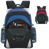Padded Polyester Backpack with Laptop Sleeve