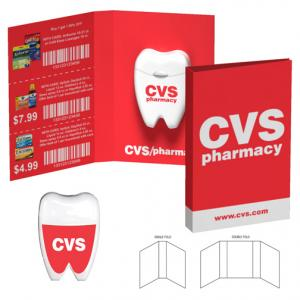 Tooth Shaped Dental Floss With Booklet