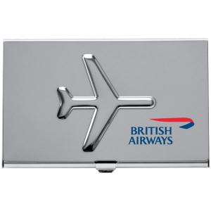 Custom printed airplane business card holder case colourmoves