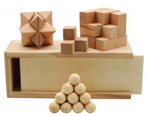 3 in 1 Wooden Puzzle Set