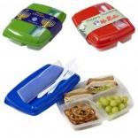 Lunch Box with Utensil Cubby in Cover