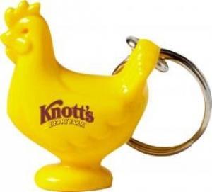 Acrylic Chicken Shaped Keychain