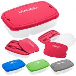 Plastic Lunchbox with Snap On Lid and Built In Cutlery Holder