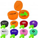 Neon Ear Plugs and Ear Plug Case