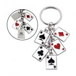 Las Vegas Themed Poker Keychain
