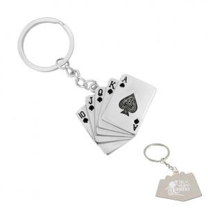 Royal Flush Poker Keychain