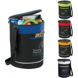 Polycanvas Zippered Barrel Cooler with Front Pocket