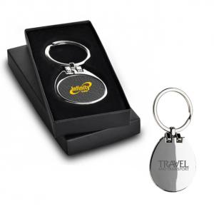 Deluxe Metal Leather Key Chain