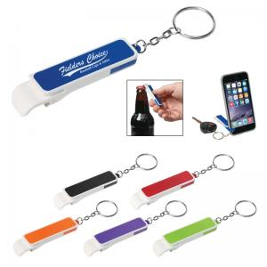 Bottle Opener And Phone Stand Key Chain