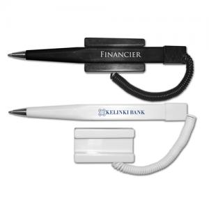 Economical Ball Point Pen With Coil Cord
