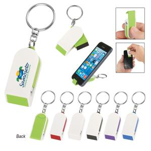 Phone Stand Key Chain with Screen Cleaner