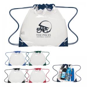 Stadium Approved Clear Drawstring Backpack