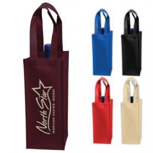 Non-Woven Single Bottle Tote Bag